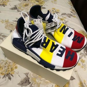 PHARRELL WILLIAMS BBC HU NMD SHOES SIZE 10